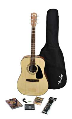 Fender DG8S Acoustic Guitar Package