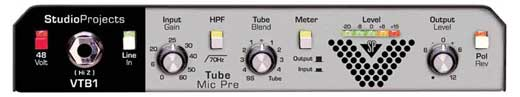 Studio Projects VTB1 Variable Tube Studio Mic Preamp