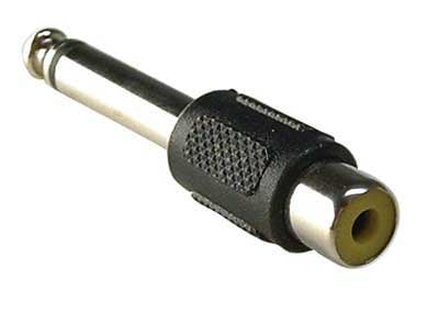 CBI 345IC 1/4 Inch TS Male to RCA Female Cable Adapter