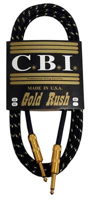 CBI GR Gold Rush Guitar Instrument Cable