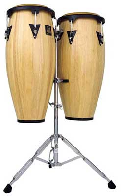Latin Percussion LPA646 Aspire Wood Conga Drums with Stand