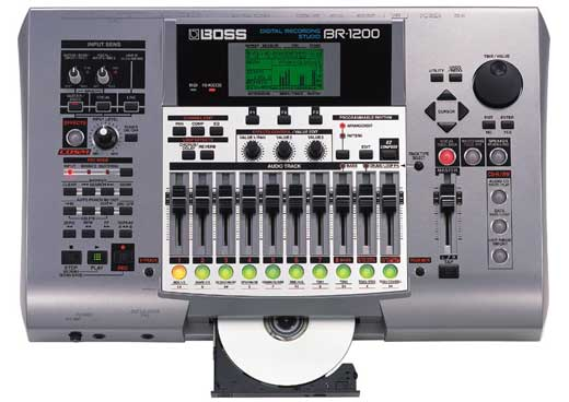 Boss BR1200CD 12 Track Recorder with CDR and Effects