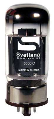 Svetlana 6550C Russian Power Amp Vacuum Tube