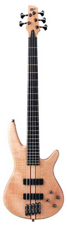 Ibanez SR1005EFM Prestige 5 String Bass Guitar with Case