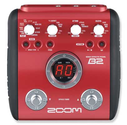 Zoom B2 Bass Guitar Multieffects Pedal