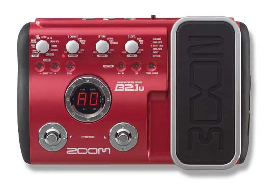 Zoom B21U Bass Guitar Multieffects Pedal