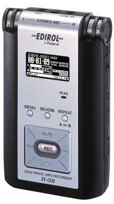 Edirol R09 Portable MP3 Digital Recorder