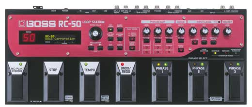 Boss RC50 Stereo Loop Station Pedal