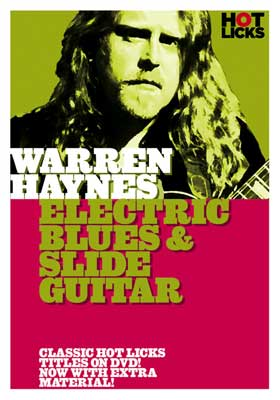 Hot Licks DVD Warren Haynes Electric Blues and Slide Guitar