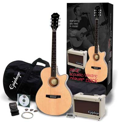 Epiphone PR4E Player Cutaway Acoustic Electric Package