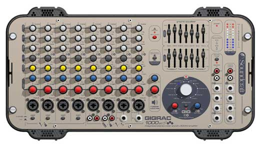 Soundcraft GigRac 1000ST Stereo Powered Mixer