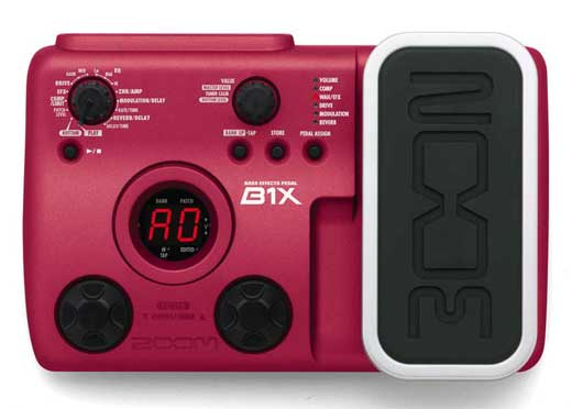 Zoom B1X Bass Guitar Multieffects Pedal