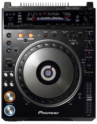 Pioneer DVJ1000 DVD Video DJ CD Player Turntable