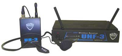 Nady UHF 3 Headset Wireless Microphone System