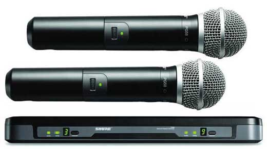Shure Performance Gear Dual Channel Handheld Wireless PG58 Mic System