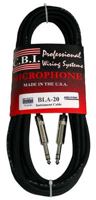 CBI Ultimate Series 1/4 Inch TRS to 1/4 Inch TRS Cable