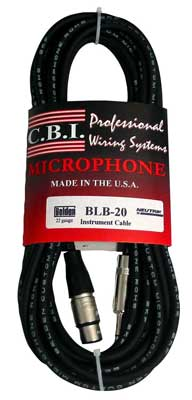 CBI Ultimate Series Female XLR to 1/4 Inch TRS Cable