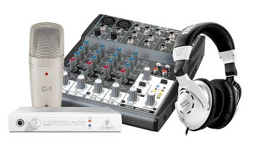 Behringer Podcastudio FireWire Recording Package