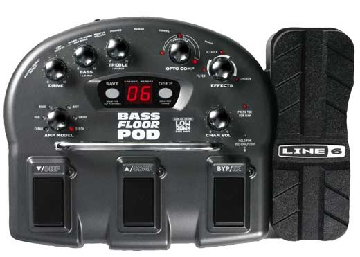 Line 6 Bass Floor POD Multieffects Pedal