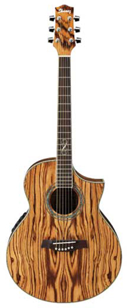 Ibanez EW20ZWE Exotic Zebra Wood Acoustic Electric Guitar
