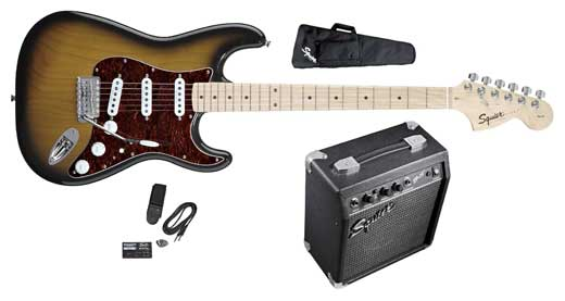 Squier Stop Dreaming Start Playing SE Special with Squier SP-10 Amp