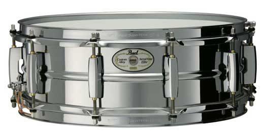Pearl Sensitone 5x14 Steel Snare Drum Chrome