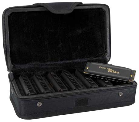 Hohner PBH7 Piedmont Blues Harmonica Set 7 Harmonicas with Case
