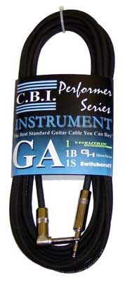 CBI GA American Made Guitar Instrument Cable 1 Right Angle