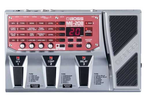 Boss ME20B Bass Guitar Multieffects Pedal