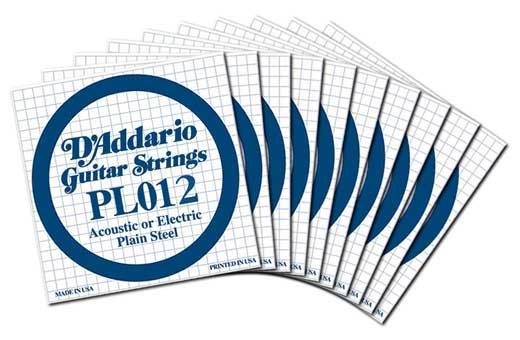 Daddario PL012 Plain Electric Guitar String