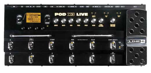 Line 6 POD X3 Live Modeling Guitar Effects Processor
