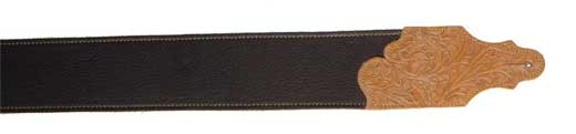 Franklin Chocolate Leather 3 inch Guitar Strap