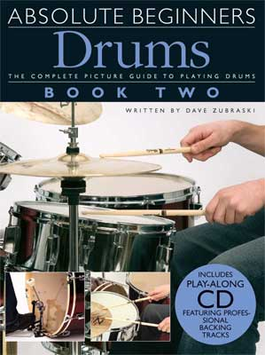 Amsco Absolute Beginners Drums Book 2 and CD