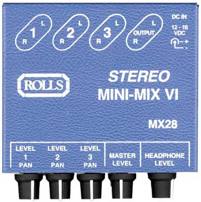 Rolls MX28 Mini Mix VI Stereo Mixer