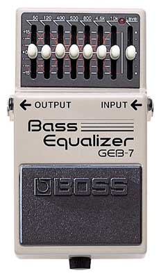 Boss GEB7 Bass Equalizer Pedal