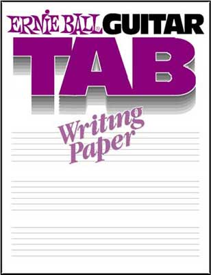 Ernie Ball 7021 Guitar Tab Writing Paper Book