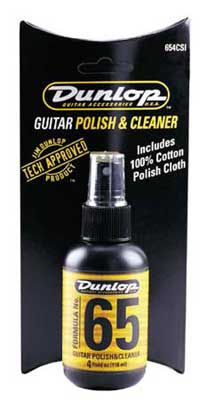 Dunlop 654C Formula No.65 Guitar Polish and Cleaner with Cloth