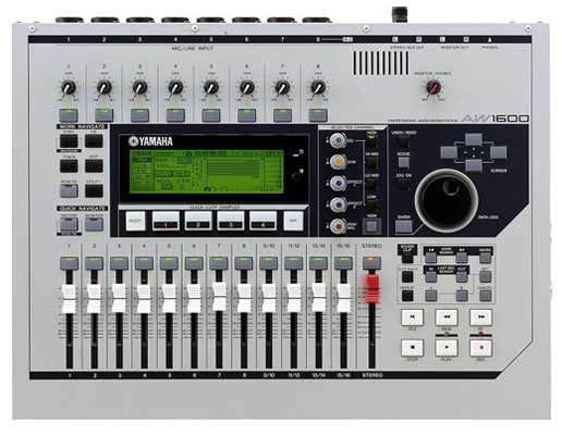 yamaha aw1600 multitrack digital recorder. Black Bedroom Furniture Sets. Home Design Ideas