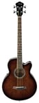 Ibanez AEB10E Acoustic Electric Bass Guitar Dark Violin Sunburst