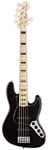 Fender American Deluxe Jazz V 5 String Bass Black with Case
