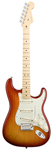 Fender American Deluxe Stratocaster Aged Cherry Sunburst with Case