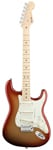 Fender American Deluxe Strat Maple Fingerboard Sunset Metallic W/C