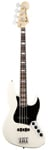 Fender American Deluxe Jazz Electric Bass Olymic White with Case