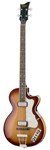 Hofner CT Series Contemporary Club Bass Guitar with Case Sunburst