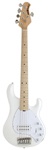 Music Man StingRay H 5 String Electric Bass Guitar with Case White