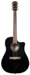 Fender CD60CE Dreadnought Acoustic Electric Guitar Black with Case