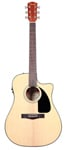 Fender CD60CE Dreadnought Acoustic Electric Guitar Natural with Case