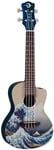 Luna Great Wave Concert Ukulele with Bag