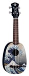 Luna Great Wave Soprano Ukulele with Gigbag