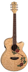Luna FLORSE Flora Rose Acoustic Electric Guitar